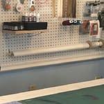 sewing room pegboard