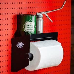 pegboard towel holder